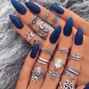 Bohemian style ring lot